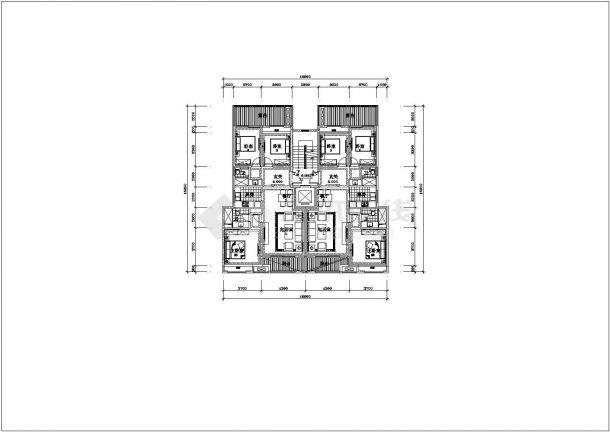 南宁洋房底商私人住宅楼设计CAD详细建筑施工图-图一