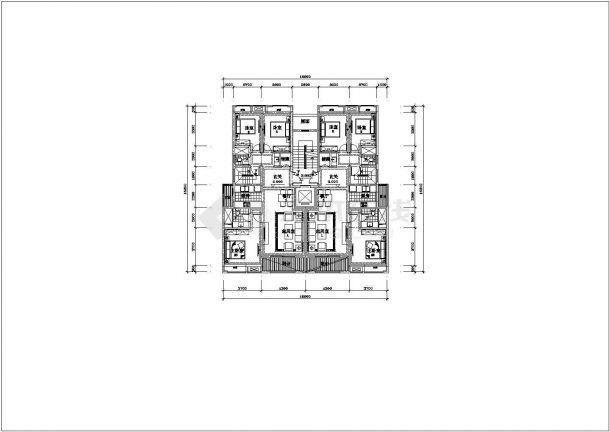 南宁洋房底商私人住宅楼设计CAD详细建筑施工图-图二