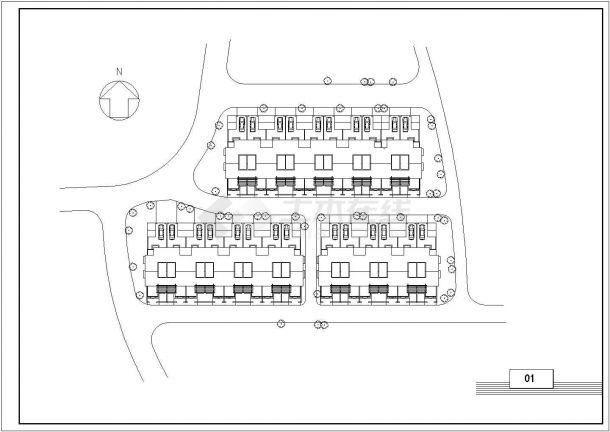 佛山市某现代村镇2层砖混结构住宅楼建筑设计CAD图纸(含阁楼和总图)-图二
