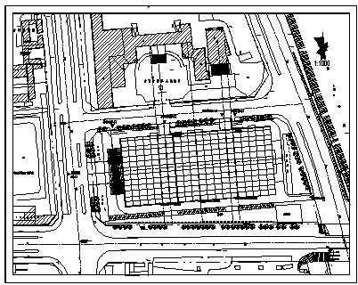 屋顶花园设计_某城市家具广场屋顶花园绿化规划设计cad图纸-图一