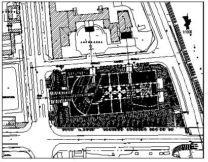 屋顶花园设计_某城市家具广场屋顶花园绿化规划设计cad图纸-图二