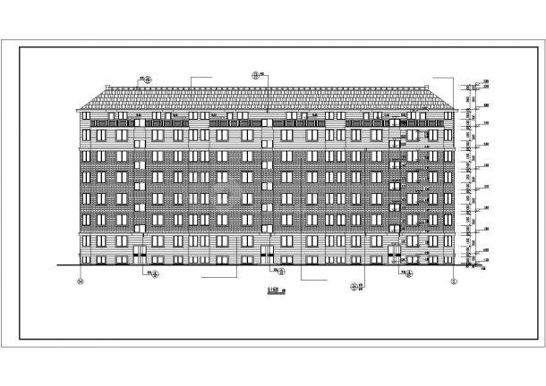 重庆市水韵小区5200平米6层砖混结构住宅楼建筑设计CAD图纸(含坡屋顶)-图二