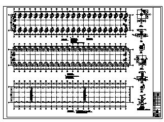 某单层轻钢门式钢架结构厂房结构施工cad图_厂房施工-图一