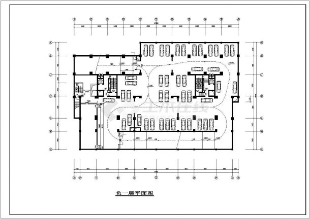 广州某小区4.2万平米24层框架结构商住楼建筑设计CAD图纸(1-6层商用)-图一