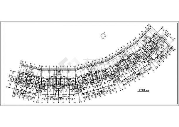 常州紫玉园小区1.7万平米4层砖混结构住宅楼建筑设计CAD图纸(含车库)-图二