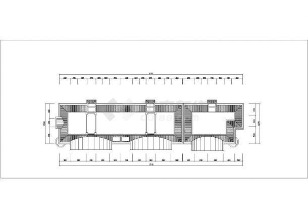 北京市幸福花园小区6层砖混结构住宅楼平立面设计CAD图纸(每层725平)-图一