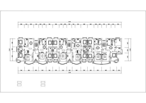 北京市幸福花园小区6层砖混结构住宅楼平立面设计CAD图纸(每层725平)-图二