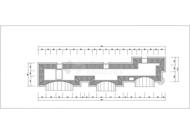 南京市汇城花园小区6层砖混结构住宅楼平立面设计CAD图纸(每层628平)-图一