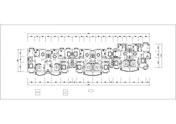 南京市汇城花园小区6层砖混结构住宅楼平立面设计CAD图纸(每层628平)-图二