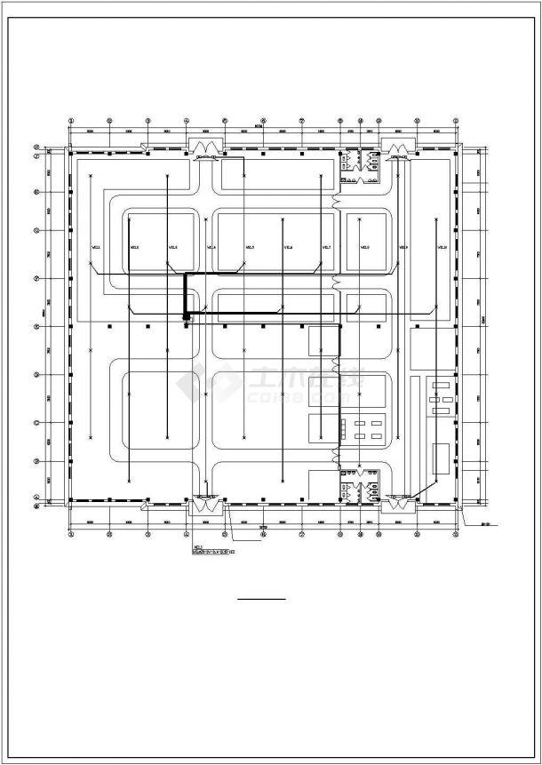 某工业厂房电气施工设计图-图一