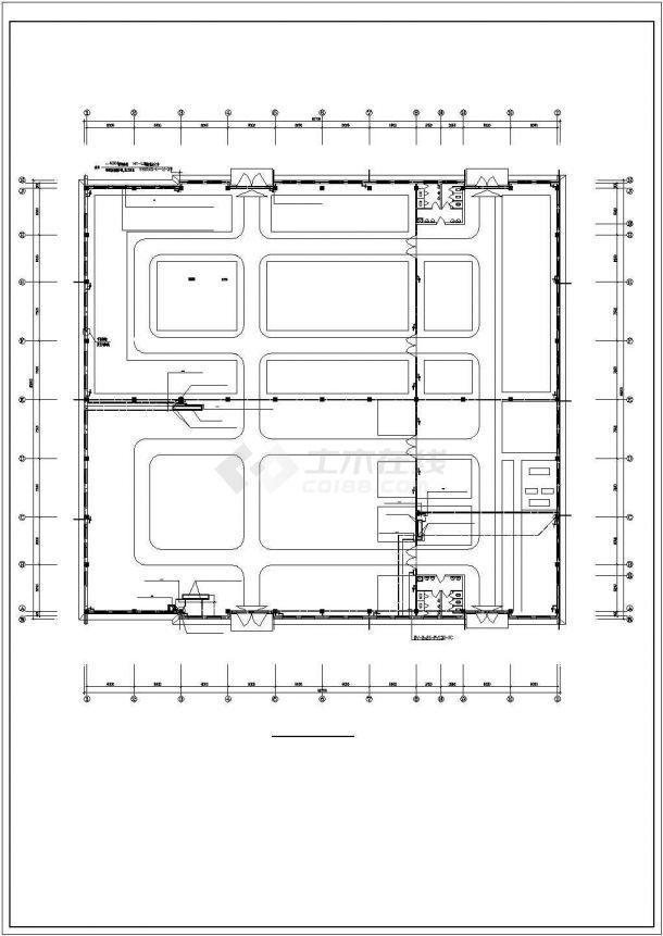 某工业厂房电气施工设计图-图二