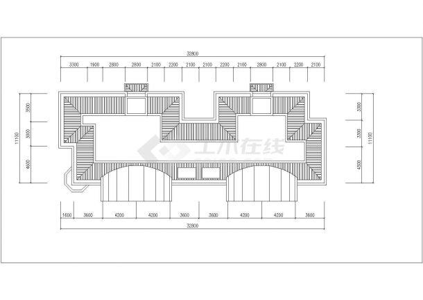 青岛市翠微家园小区6层砖混结构住宅楼平立面设计CAD图纸(每层360平)-图一