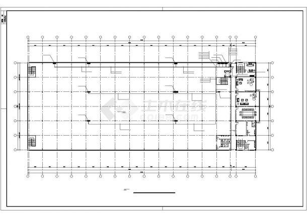 某8297㎡厂房电气施工图纸-图二