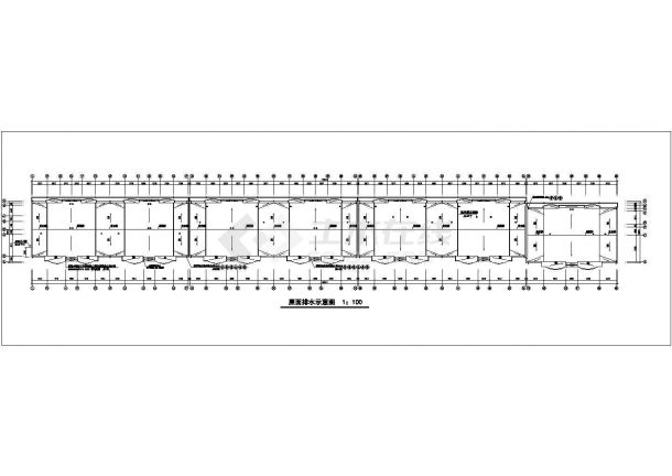 抚顺市某机械厂家属院6层砖混结构组合式家属楼建筑设计CAD图纸-图一