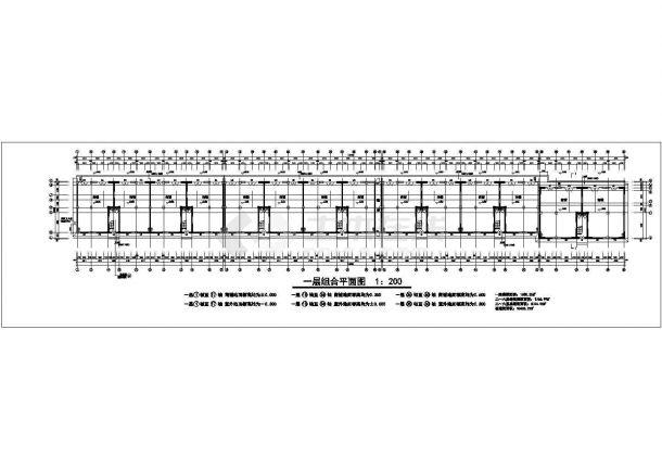 抚顺市某机械厂家属院6层砖混结构组合式家属楼建筑设计CAD图纸-图二