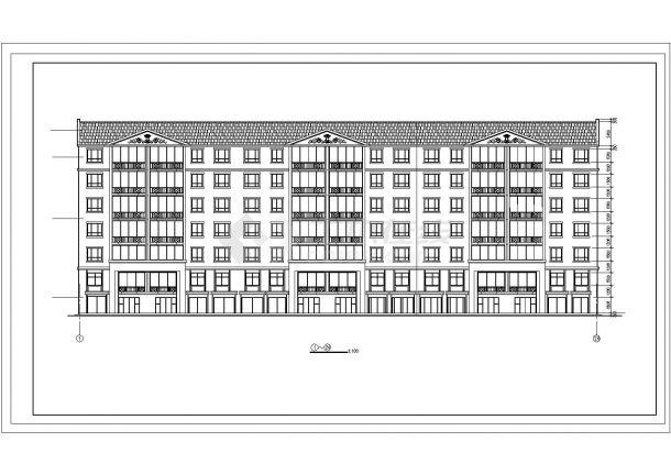 溧阳市可馨花园小区6层砌体结构住宅楼建筑设计CAD图纸(含半地下室)-图二