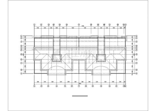 长春市蓉安家园小区三栋9层框架结构住宅楼建筑设计CAD图纸(含阁楼)-图一