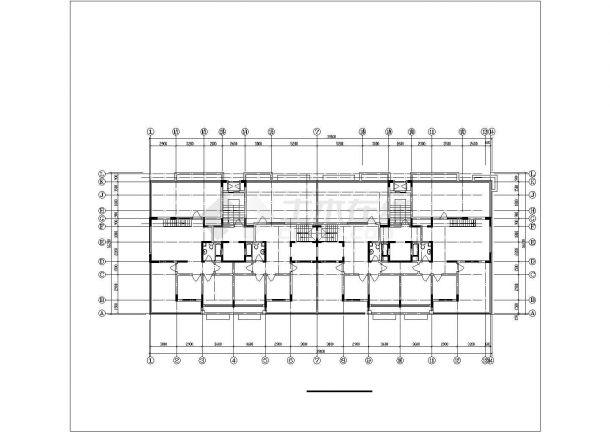 长春市蓉安家园小区三栋9层框架结构住宅楼建筑设计CAD图纸(含阁楼)-图二