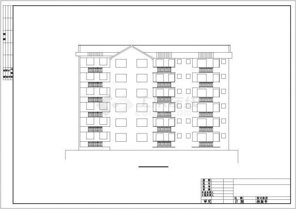 成都市庄月阁小区6层砖混结构民居楼全套建筑设计CAD图纸-图一