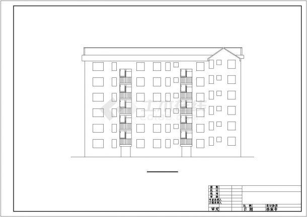 成都市庄月阁小区6层砖混结构民居楼全套建筑设计CAD图纸-图二