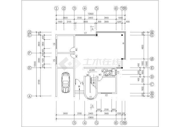 许昌市春燕花园小区经典平面户型设计CAD图纸(共70张/1梯2户型)-图一