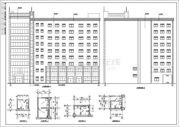 荣苑高层住宅全套建筑设计施工图-图二