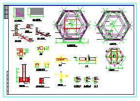某园林重檐仿古亭建筑cad设计施工图-图二