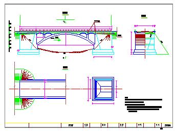 某园林25m石拱桥cad设计施工图-图一