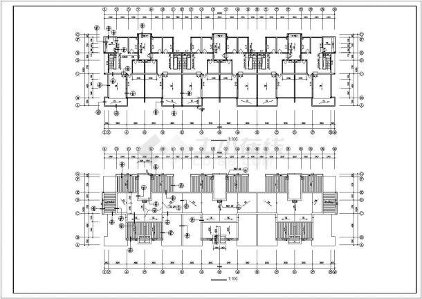 镇江市新华山庄小区5层砖混结构住宅楼建筑设计CAD图纸(含阁楼和车库)-图二