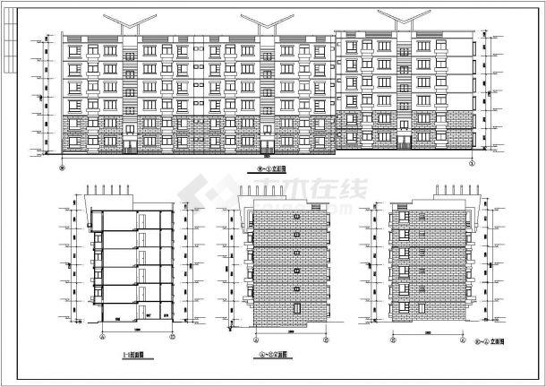 杭州市翰林府邸小区4200平米6层砖混结构住宅楼全套建筑设计CAD图纸-图一