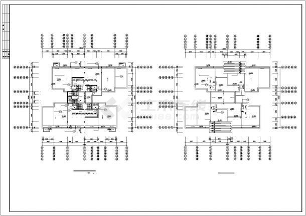 苏州市林溪郡小区2500平米6+1层砖混结构住宅楼建筑设计CAD图纸-图一