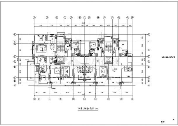 君雅社区第二批安置房建造工程(1# )--给排水设计-图二