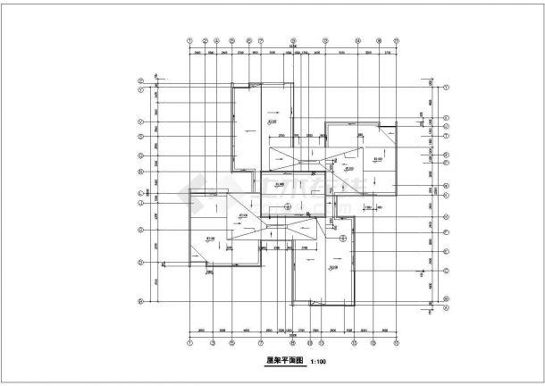 乌鲁木齐市森馨花园小区20层框架结构住宅楼建筑设计CAD图纸-图一