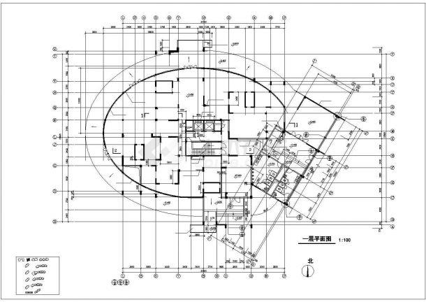 乌鲁木齐市森馨花园小区20层框架结构住宅楼建筑设计CAD图纸-图二