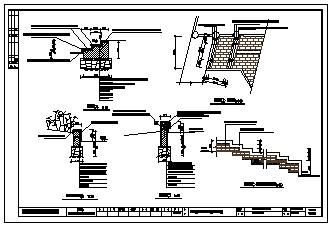 温岭市新开河绿地景观cad设计施工图-图一