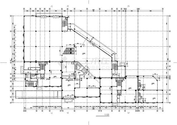 北京市青秀花园小区15层框架结构住宅楼建筑设计CAD图纸(含机房层)-图一