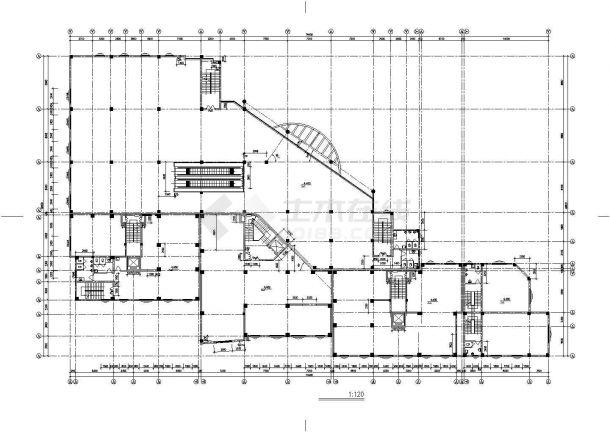 北京市青秀花园小区15层框架结构住宅楼建筑设计CAD图纸(含机房层)-图二