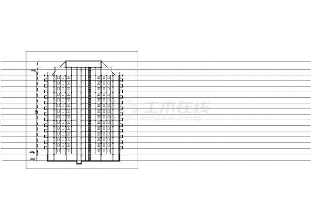 衡阳市东方花园小区14层框架结构住宅楼平立面设计CAD图纸-图一