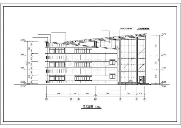 北京市新燕花园小区3层框架结构业主活动会所建筑设计CAD图纸-图一