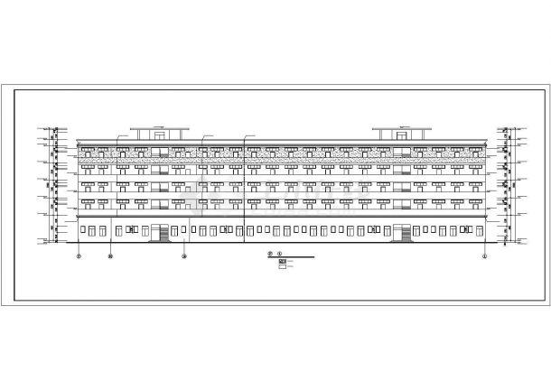 沈阳某工业区4900平5层砖混结构宿舍楼建筑设计CAD图纸(底层为车库)-图一
