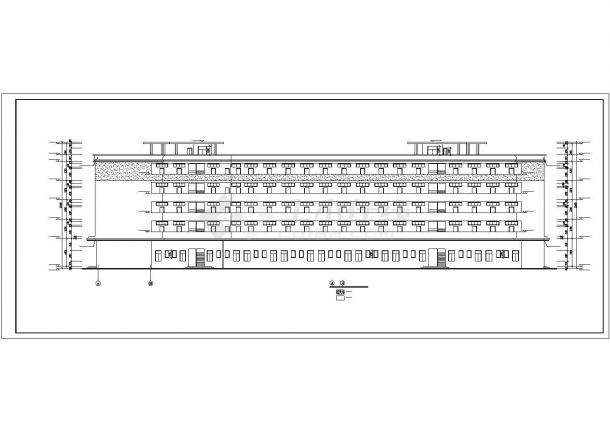沈阳某工业区4900平5层砖混结构宿舍楼建筑设计CAD图纸(底层为车库)-图二