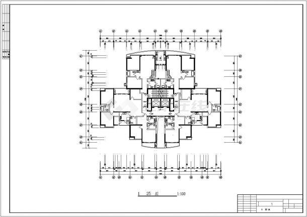 莆田市金田花园小区经典实用的平面户型设计CAD图纸(共21张)-图一