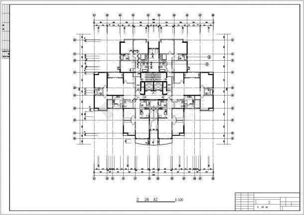 莆田市金田花园小区经典实用的平面户型设计CAD图纸(共21张)-图二