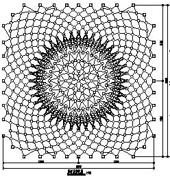 某网壳结构清真寺穹顶结构施工cad图_清真寺穹顶施工-图一