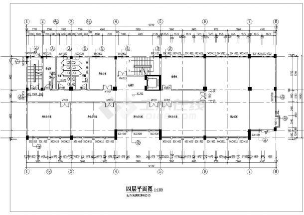 某多层办公楼CAD建筑设计施工图-图二