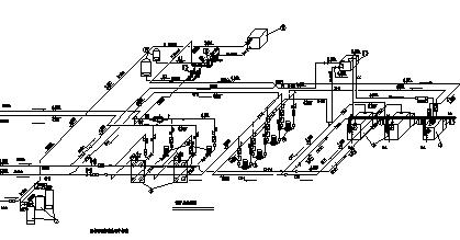 锅炉房设计_某小区燃气锅炉房改造工程施工cad图纸-图一