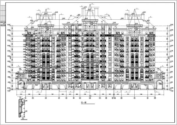 池州市秋浦花园小区1.2万平米10层框架结构住宅楼建筑设计CAD图纸-图一