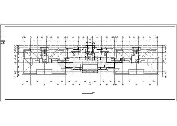 池州市秋浦花园小区1.2万平米10层框架结构住宅楼建筑设计CAD图纸-图二
