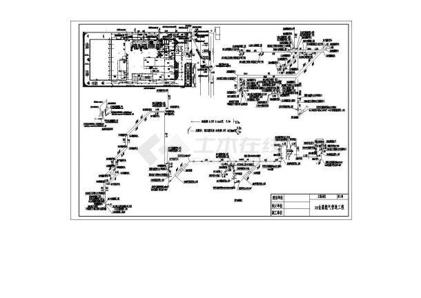 燃气管道设计_某金属燃气管道工程施工cad图纸-图一