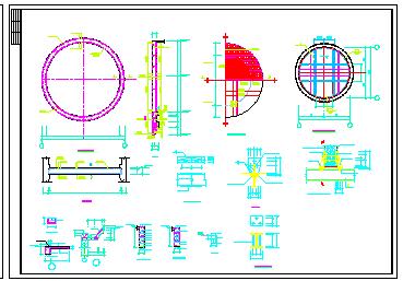 某地全套集水井结构水利工程设计cad图纸-图一